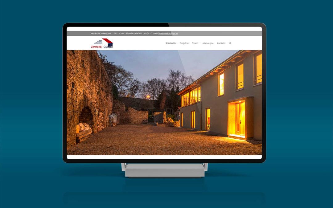 Responsive Webdesign für Zimmerei Geiger