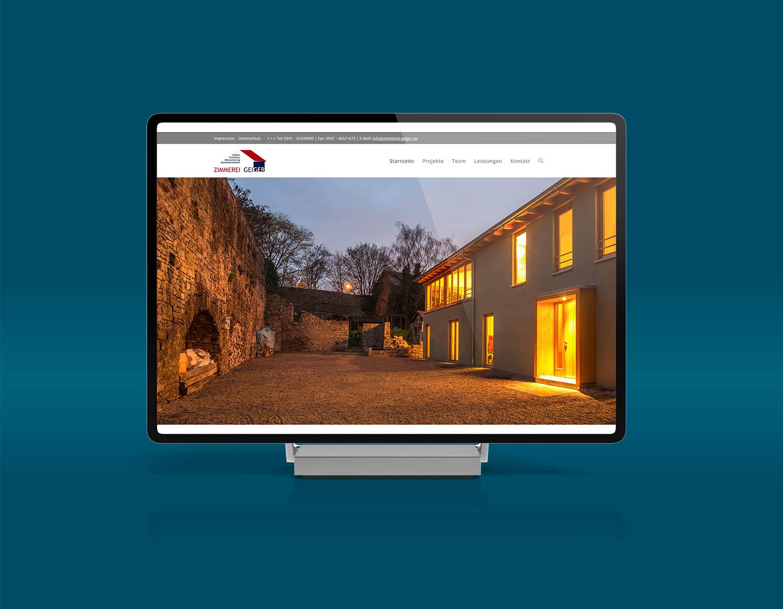 Webdesign für Zimmerei Geiger