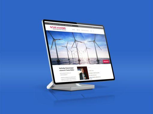 Logodesign und Webentwicklung für nachhaltige Finanzstrategien