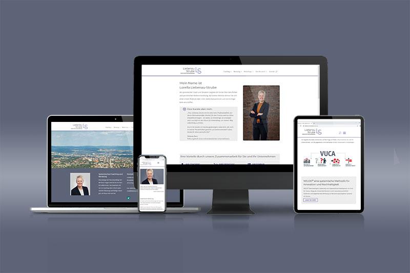 Logodesign und Webentwicklung für Lorella Liebenau-Strube